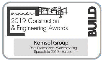 awards construction engineering komsol group awards MA Today Global Winner professional Waterproofing