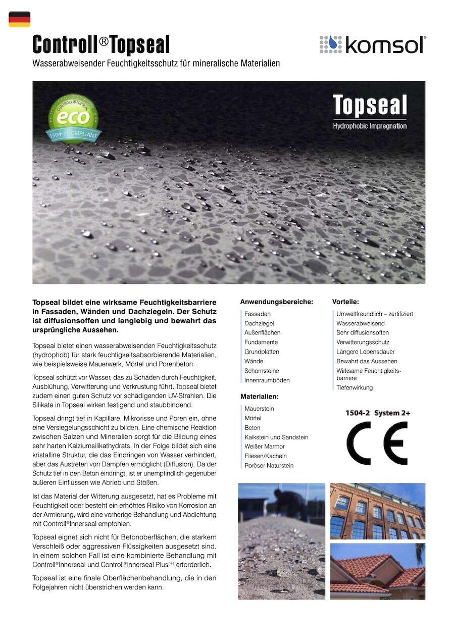TDS Controll Topseal DE 2018 GREENLINE komsol Deutschland technisches Datenblatt