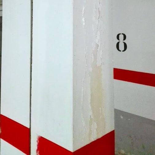 komsol controll innerseal risse beton parkhaus feuchtigkeit saeule pfeiler garage