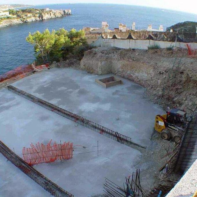 komsol-controll-innerseal-risse-betonboeden-impregnieren Waterproofing underground structures, Luxury Villas, Mallorca